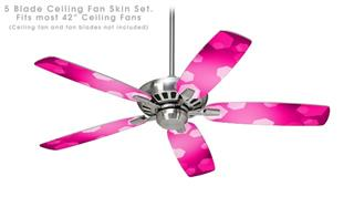 Bokeh Hex Hot Pink - Ceiling Fan Skin Kit fits most 42 inch fans (FAN and BLADES SOLD SEPARATELY)