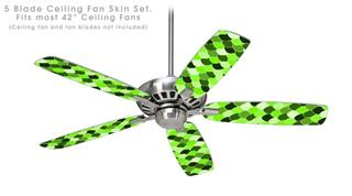 Scales Green - Ceiling Fan Skin Kit fits most 42 inch fans (FAN and BLADES SOLD SEPARATELY)
