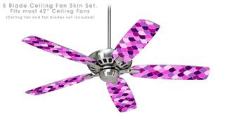Scales Pink Purple - Ceiling Fan Skin Kit fits most 42 inch fans (FAN and BLADES SOLD SEPARATELY)