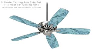 Sea Blue - Ceiling Fan Skin Kit fits most 42 inch fans (FAN and BLADES SOLD SEPARATELY)