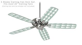 Winter Trees Green - Ceiling Fan Skin Kit fits most 42 inch fans (FAN and BLADES SOLD SEPARATELY)
