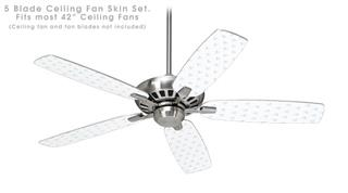 Hearts Light Blue - Ceiling Fan Skin Kit fits most 42 inch fans (FAN and BLADES SOLD SEPARATELY)