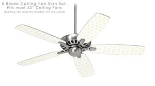 Hearts Yellow - Ceiling Fan Skin Kit fits most 42 inch fans (FAN and BLADES SOLD SEPARATELY)