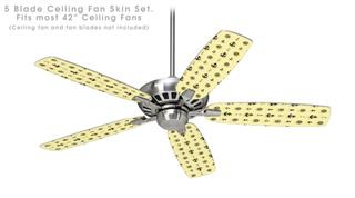 Nautical Anchors Away 02 Yellow Sunshine - Ceiling Fan Skin Kit fits most 42 inch fans (FAN and BLADES SOLD SEPARATELY)