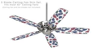 Floating Coral White - Ceiling Fan Skin Kit fits most 42 inch fans (FAN and BLADES SOLD SEPARATELY)