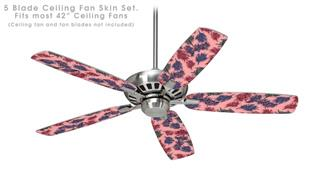 Floating Coral Pink - Ceiling Fan Skin Kit fits most 42 inch fans (FAN and BLADES SOLD SEPARATELY)