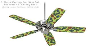 Floating Coral Sage Green - Ceiling Fan Skin Kit fits most 42 inch fans (FAN and BLADES SOLD SEPARATELY)
