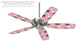 Starfish and Sea Shells Pink - Ceiling Fan Skin Kit fits most 42 inch fans (FAN and BLADES SOLD SEPARATELY)