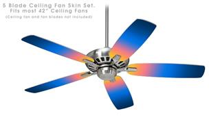 Smooth Fades Sunset - Ceiling Fan Skin Kit fits most 42 inch fans (FAN and BLADES SOLD SEPARATELY)
