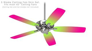 Smooth Fades Neon Green Hot Pink - Ceiling Fan Skin Kit fits most 42 inch fans (FAN and BLADES SOLD SEPARATELY)