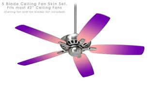Smooth Fades Pink Purple - Ceiling Fan Skin Kit fits most 42 inch fans (FAN and BLADES SOLD SEPARATELY)