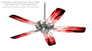 Lightning Red - Ceiling Fan Skin Kit fits most 42 inch fans (FAN and BLADES SOLD SEPARATELY)