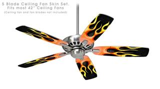 Metal Flames - Ceiling Fan Skin Kit fits most 42 inch fans (FAN and BLADES SOLD SEPARATELY)