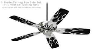 Metal Flames Chrome - Ceiling Fan Skin Kit fits most 42 inch fans (FAN and BLADES SOLD SEPARATELY)