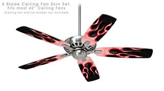 Metal Flames Red - Ceiling Fan Skin Kit fits most 42 inch fans (FAN and BLADES SOLD SEPARATELY)
