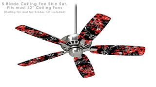 Emo Graffiti - Ceiling Fan Skin Kit fits most 42 inch fans (FAN and BLADES SOLD SEPARATELY)