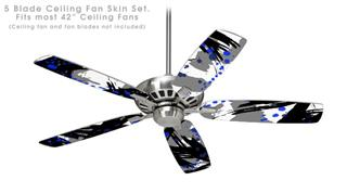 Abstract 02 Blue - Ceiling Fan Skin Kit fits most 42 inch fans (FAN and BLADES SOLD SEPARATELY)
