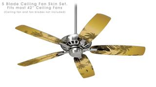 Summer Palm Trees - Ceiling Fan Skin Kit fits most 42 inch fans (FAN and BLADES SOLD SEPARATELY)