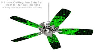 HEX Green - Ceiling Fan Skin Kit fits most 42 inch fans (FAN and BLADES SOLD SEPARATELY)