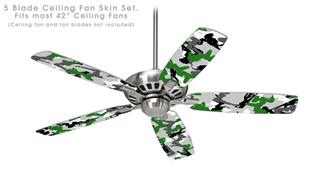 Sexy Girl Silhouette Camo Green - Ceiling Fan Skin Kit fits most 42 inch fans (FAN and BLADES SOLD SEPARATELY)