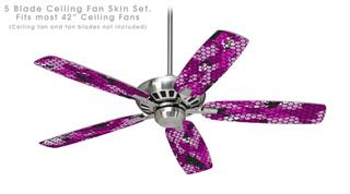 HEX Mesh Camo 01 Pink - Ceiling Fan Skin Kit fits most 42 inch fans (FAN and BLADES SOLD SEPARATELY)