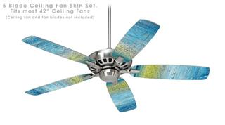 Landscape Abstract Beach - Ceiling Fan Skin Kit fits most 42 inch fans (FAN and BLADES SOLD SEPARATELY)