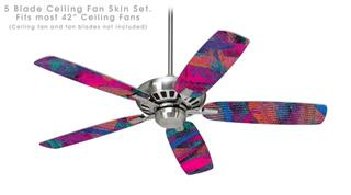 Painting Brush Stroke - Ceiling Fan Skin Kit fits most 42 inch fans (FAN and BLADES SOLD SEPARATELY)