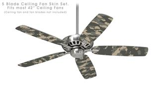 WraptorCamo Digital Camo Combat - Ceiling Fan Skin Kit fits most 42 inch fans (FAN and BLADES SOLD SEPARATELY)
