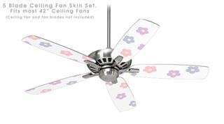 Pastel Flowers - Ceiling Fan Skin Kit fits most 42 inch fans (FAN and BLADES SOLD SEPARATELY)