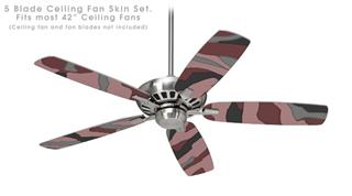 Camouflage Pink - Ceiling Fan Skin Kit fits most 42 inch fans (FAN and BLADES SOLD SEPARATELY)