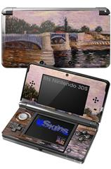 Vincent Van Gogh The Seine With The Pont De La Grande Jette - Decal Style Skin fits Nintendo 3DS (3DS SOLD SEPARATELY)