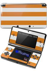 Psycho Stripes Orange and White - Decal Style Skin fits Nintendo 3DS (3DS SOLD SEPARATELY)
