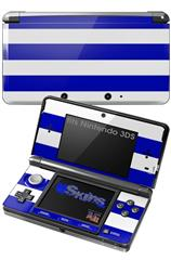 Psycho Stripes Blue and White - Decal Style Skin fits Nintendo 3DS (3DS SOLD SEPARATELY)