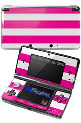 Psycho Stripes Hot Pink and White - Decal Style Skin fits Nintendo 3DS (3DS SOLD SEPARATELY)