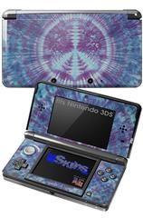 Tie Dye Peace Sign 106 - Decal Style Skin fits Nintendo 3DS (3DS SOLD SEPARATELY)