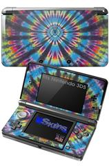 Tie Dye Swirl 101 - Decal Style Skin fits Nintendo 3DS (3DS SOLD SEPARATELY)