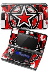 Star Checker Splatter - Decal Style Skin fits Nintendo 3DS (3DS SOLD SEPARATELY)