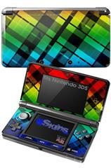 Rainbow Plaid - Decal Style Skin fits Nintendo 3DS (3DS SOLD SEPARATELY)
