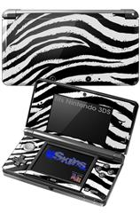 Zebra - Decal Style Skin fits Nintendo 3DS (3DS SOLD SEPARATELY)