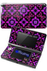 Pink Floral - Decal Style Skin fits Nintendo 3DS (3DS SOLD SEPARATELY)