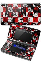 Checker Graffiti - Decal Style Skin fits Nintendo 3DS (3DS SOLD SEPARATELY)
