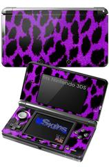 Purple Leopard - Decal Style Skin fits Nintendo 3DS (3DS SOLD SEPARATELY)