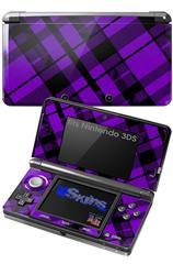 Purple Plaid - Decal Style Skin fits Nintendo 3DS (3DS SOLD SEPARATELY)