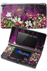 Grungy Flower Bouquet - Decal Style Skin fits Nintendo 3DS (3DS SOLD SEPARATELY)