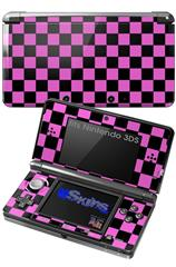 Checkers Pink - Decal Style Skin fits Nintendo 3DS (3DS SOLD SEPARATELY)