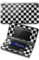 Checkers White - Decal Style Skin fits Nintendo 3DS (3DS SOLD SEPARATELY)