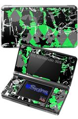 SceneKid Green - Decal Style Skin fits Nintendo 3DS (3DS SOLD SEPARATELY)