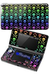 Skull and Crossbones Rainbow - Decal Style Skin fits Nintendo 3DS (3DS SOLD SEPARATELY)