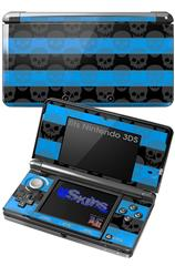 Skull Stripes Blue - Decal Style Skin fits Nintendo 3DS (3DS SOLD SEPARATELY)