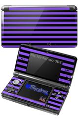 Stripes Purple - Decal Style Skin fits Nintendo 3DS (3DS SOLD SEPARATELY)